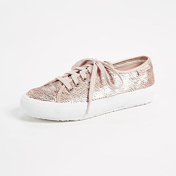 Superga Shoes   Rose Gold Pink Sequin